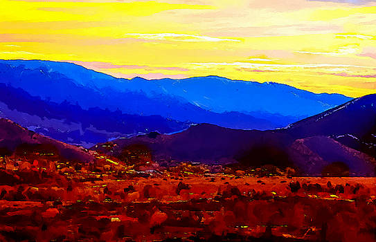 Acton California Sunset by Dr Bob Johnston