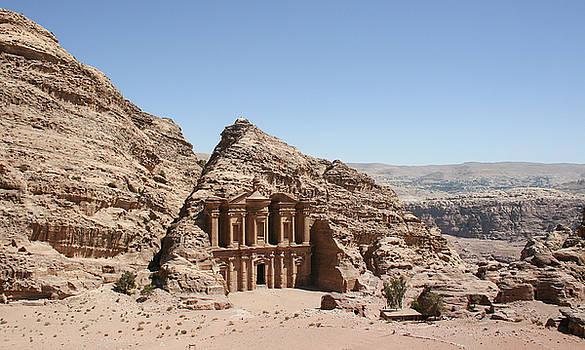 Ad Deir Monastery Petra Jordan by Diego Delso