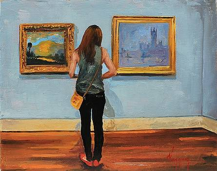 Admiring Monet by Marco  Antonio