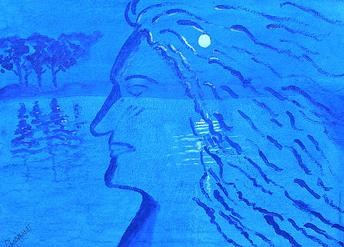 Adorning Moon in hair...stands the Night by Sanjay Sonawani