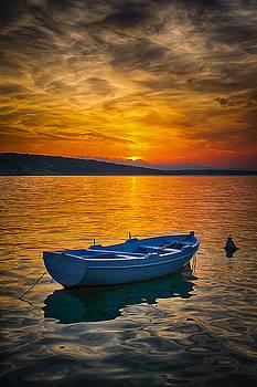 Adriatic sea sundown by Oliver Svob