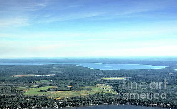 Aerial of Higgins Lake by Marianne Kuzimski