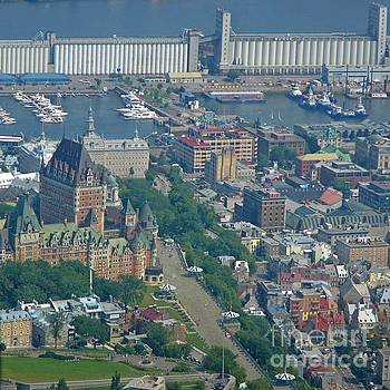 John Malone - Aerial View of Old Quebec City