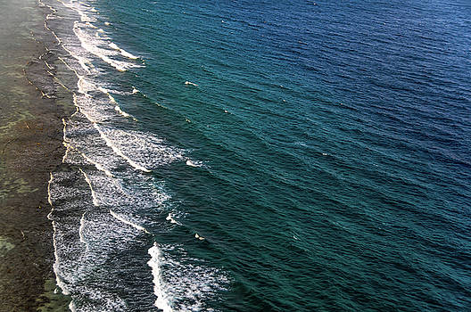 Jenny Rainbow - Aerial View to Ocean Surf. Maldives