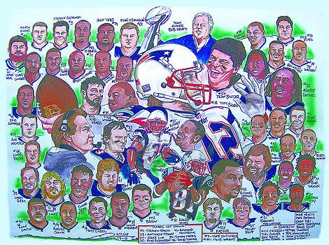 AFC Champions N.E. Patriots newspaper poster by Dave Olsen