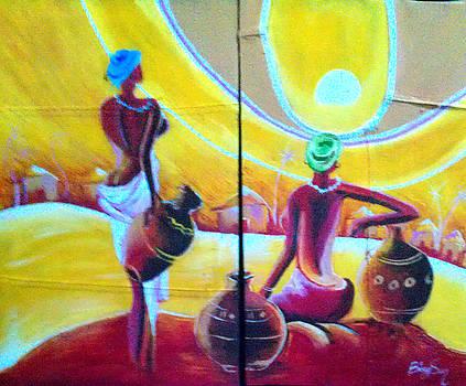 Africa woman by Isaac Bineyson
