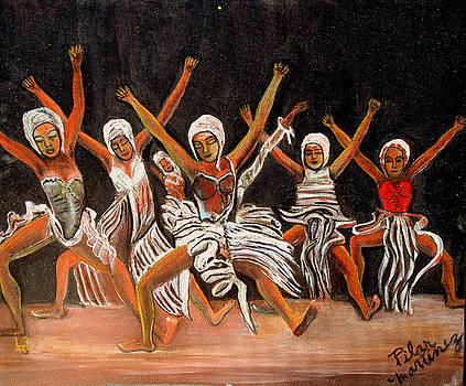 African Dancers by Pilar  Martinez-Byrne