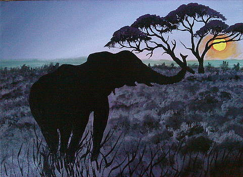 African Elephant Of Botswana by Portland Art Creations