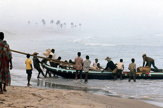 African Fishermen 1971 by Erik Falkensteen