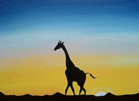 African Giraffe Of Zimbabwe by Portland Art Creations