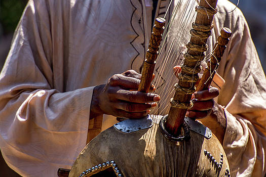 African Kora Player by Tito Santiago