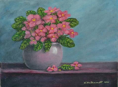 African Violets by Kathleen McDermott