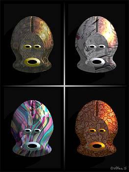 Walter Oliver Neal - Afrique Masks Series 2