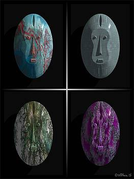 Walter Oliver Neal - Afrique Masks Series 5