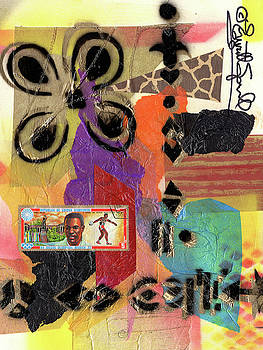 Afro Collage - H by Everett Spruill