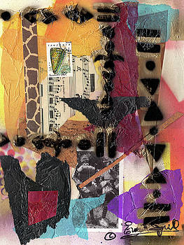 Afro Collage - I by Everett Spruill