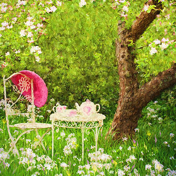 Afternoon Tea In The Apple Orchard. by ShabbyChic fine art Photography