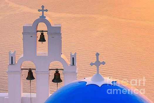 Aghioi Theodoroi church at Firostefani, Santorini by Henk Meijer Photography