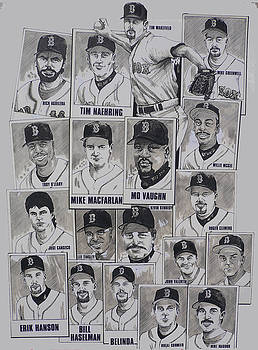 AL East Champions Red Sox newspaper poster by Dave Olsen