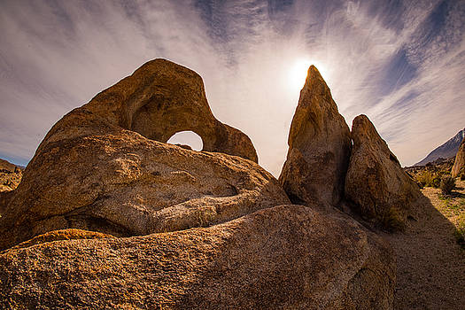 Alabama HIlls Backlit Rocks by Janis Knight