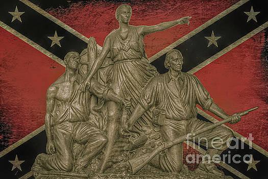 Alabama Monument Confederate Flag by Randy Steele