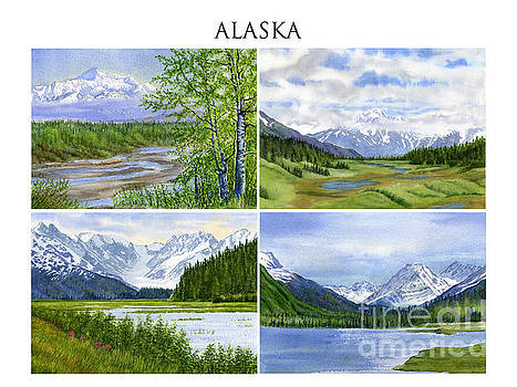 Sharon Freeman - Alaska Landscape Poster Collage 3 with Heading