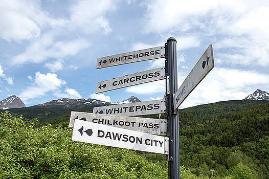 Alaskan and Yukon Towns Sign by Stephanie McDowell