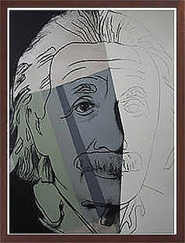 Albert Einstein by Andy Warhol