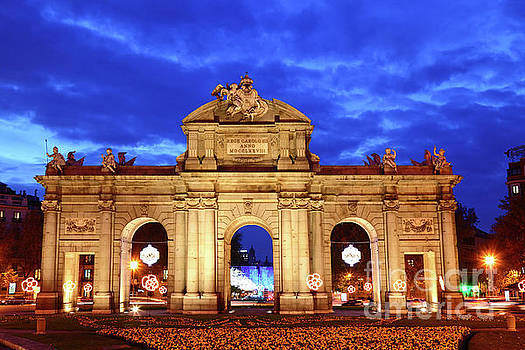 James Brunker - Alcala Gateway at Blue Hour Madrid