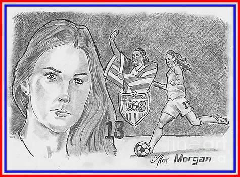 Alex Morgan by Chris DelVecchio