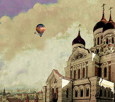 Alexander Nevsky Cathedral in Tallin, Estonia, my memory. by Jeff Burgess