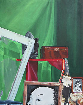 Alfred Hitchcock Still Life by Denise Jo Williams