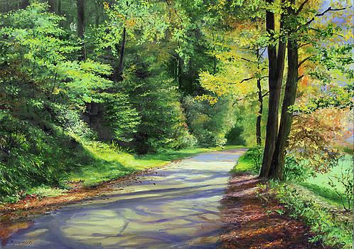 Alley in autumn by Sergey Lutsenko