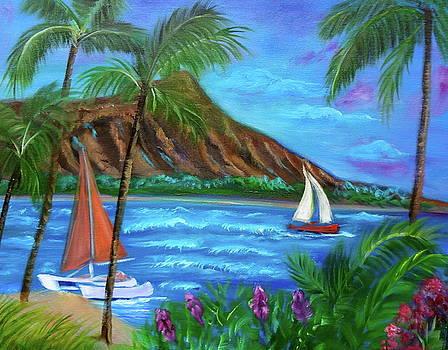 Aloha Diamond Head by Jenny Lee