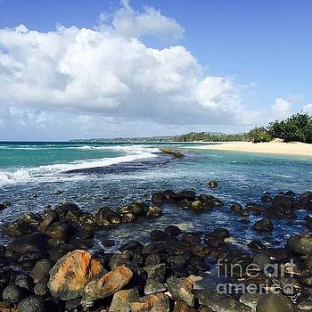 Kapukaulua Baby Beach by Sharon Mau