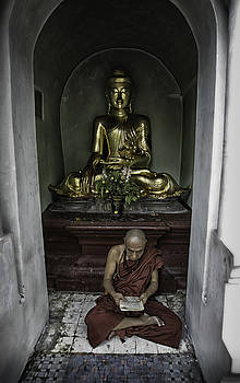 Alone at Shwedagon by David Longstreath