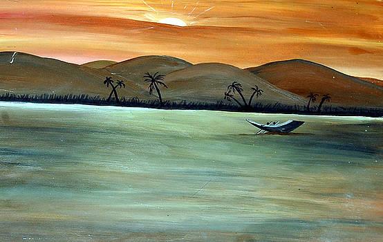Alone Boat by Sonam Shine
