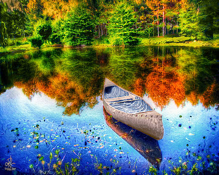 Alone on the Lake by Pennie  McCracken