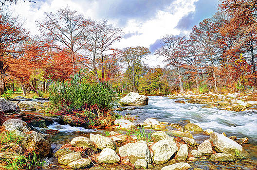 Along The River In Fall by Savannah Gibbs