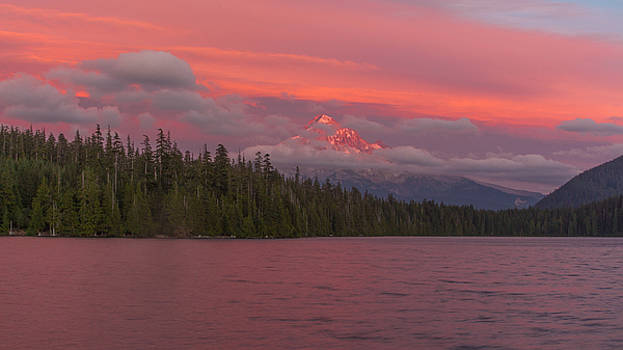 Alpenglow At Lost Lake by Brian Governale