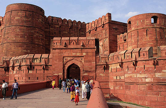 Amar Singh Gate, Red Fort, Agra, India by Aidan Moran