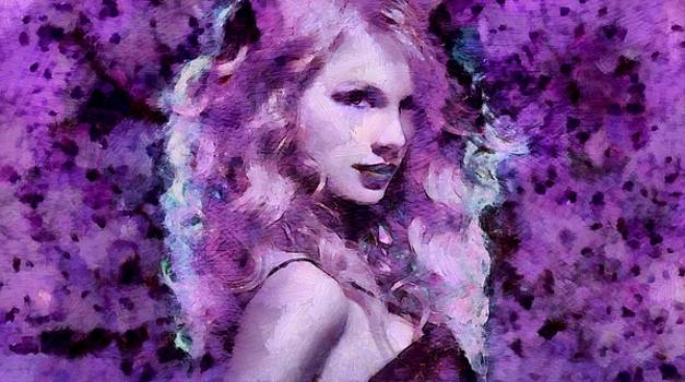 Amazing painting art by the artist Mendyz of the singer songwriter Taylor Swift.  by MendyZ