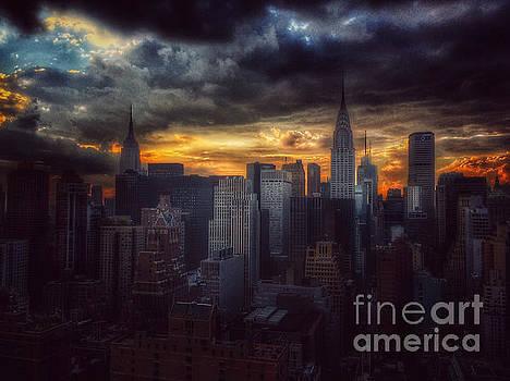 Amazing Skyline of Manhattan - New York City by Miriam Danar