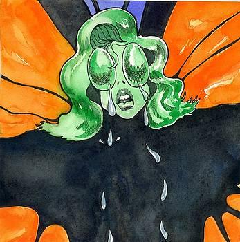 Amelia Butterfly in Tears by Robert  Myers