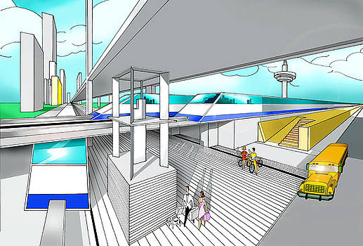 America Station by Jose Roldan Rendon