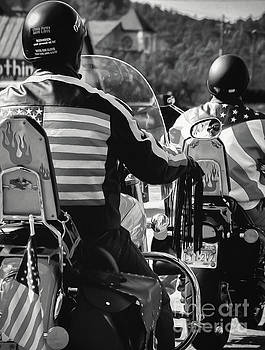 American Bikers - BW Art by Kathleen K Parker