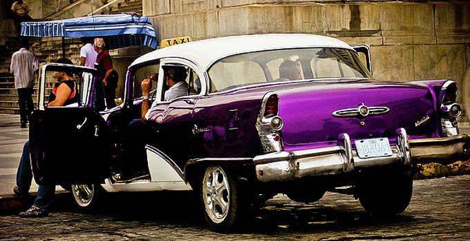 American classic car in Cuba Havana by Paul Jarrett