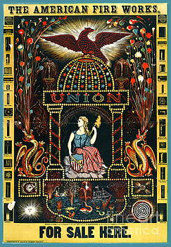 American Fireworks Ad 1872 by Padre Art