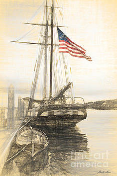American Flag Drawing by Linda Olsen