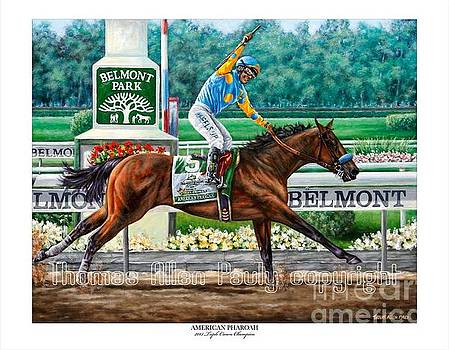 Official American Pharoah Signed Print by Thomas Allen Pauly